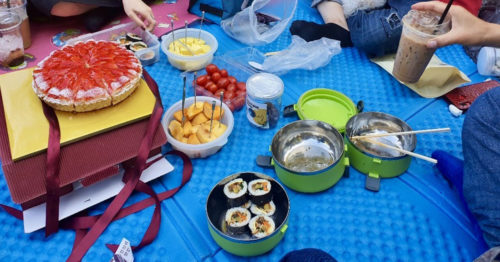 서이니の家族とピクニック